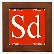Sour Diesel Framed Tile
