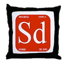 Sour Diesel Throw Pillow