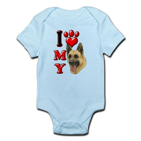I Love My German Shepherd.png Infant Bodysuit