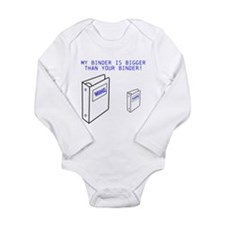 Mine is Bigger Than Yours! Long Sleeve Infant Body