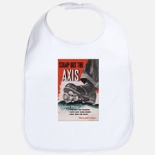 WWII POSTER STAMP OUT THE AXIS Bib