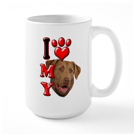 I Love My Chesapeake Bay Retriever.png Large Mug