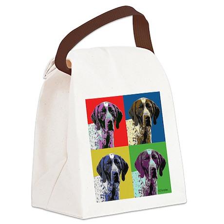 German Shorthair Pointer Pop Art Canvas Lunch Bag