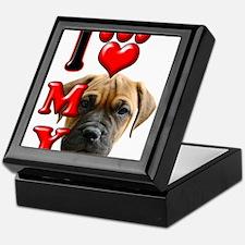 I Love My Bull Mastiff.png Keepsake Box