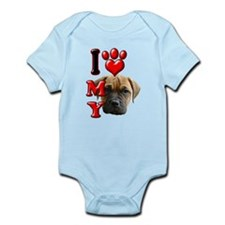I Love My Bull Mastiff.png Infant Bodysuit