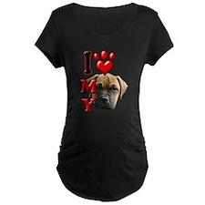 I Love My Bull Mastiff.png T-Shirt