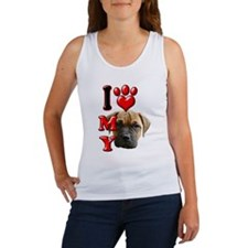 I Love My Bull Mastiff.png Women's Tank Top
