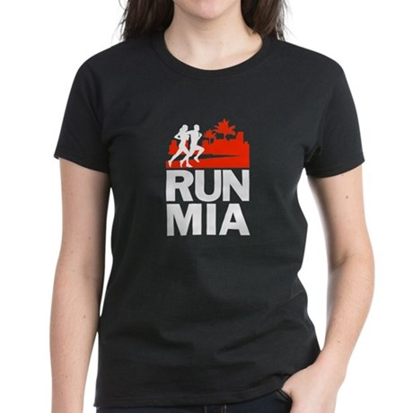 RUN MIAMI Women's Dark T-Shirt