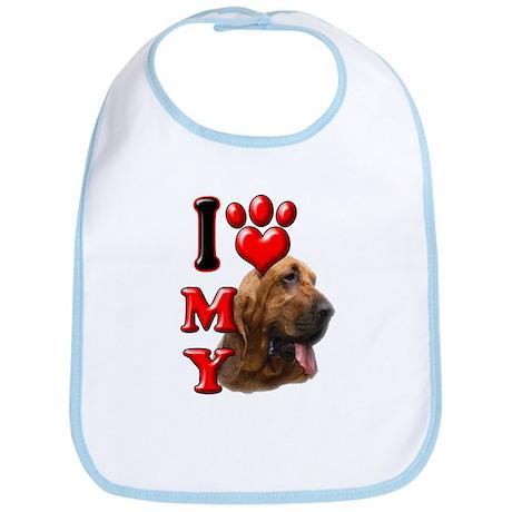 I Love My Bloodhound.png Bib