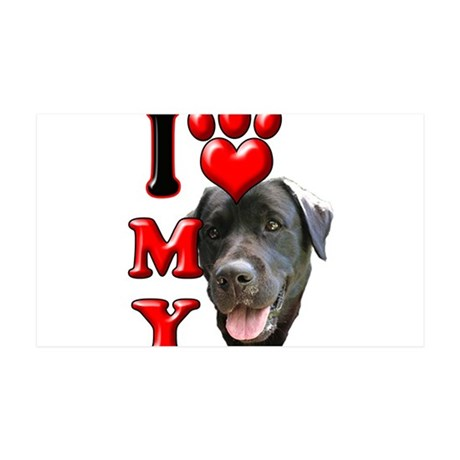 I Love My Black Lab.png 35x21 Wall Decal