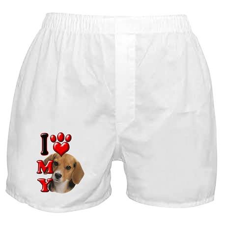 I Love My Beagle.png Boxer Shorts