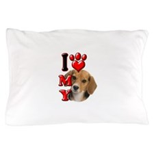 I Love My Beagle.png Pillow Case
