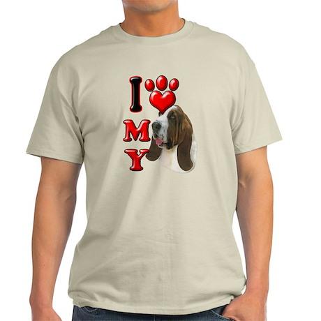 I Love My Bassett Hound.png Light T-Shirt