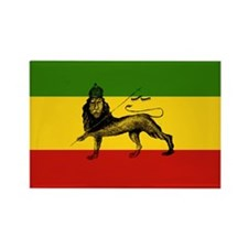 Rasta Lion Of Zion Rectangle Magnet (10 Pack)