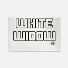 White Widow Words Rectangle Magnet