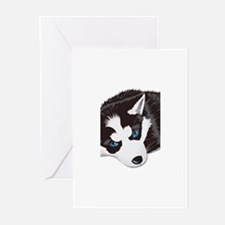 Husky Puppy Greeting Cards (Pk of 10)