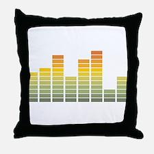 Equalizer Throw Pillow