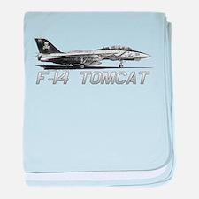 F14 Tomcat baby blanket