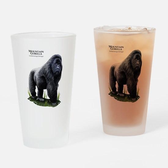 Mountain Gorilla Drinking Glass