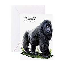 Mountain Gorilla Greeting Card