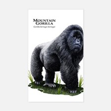 Mountain Gorilla Sticker (Rectangle)