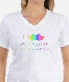I Mustache You a Rainbow Question Shirt