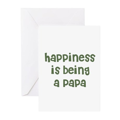 Happiness is being a Papa Greeting Cards (Package