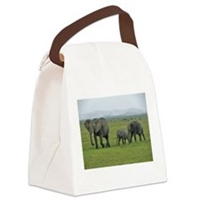 mara elephant family kenya collection Canvas Lunch
