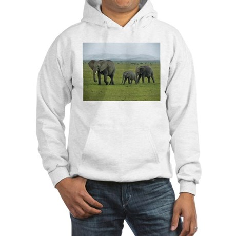 mara elephant family kenya collection Hooded Sweat