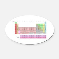 Periodic Table Oval Car Magnet