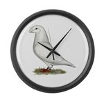 White Show Racer Large Wall Clock