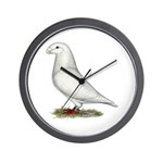 White Show Racer Wall Clock