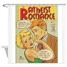 Atheist Romance Shower Curtain