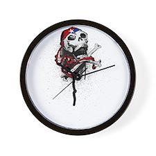 Patriot Skull Wall Clock