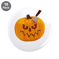 """Halloween Pumpkin 3.5"""" Button (10 pack)"""