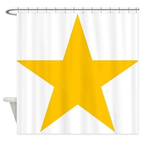 yellow star 1 Shower Curtain