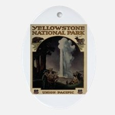 YELLOWSTONE5 Ornament (Oval)
