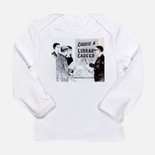 Retro Librarian Long Sleeve Infant T-Shirt