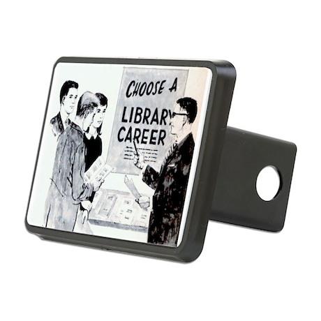 Retro Librarian Rectangular Hitch Cover