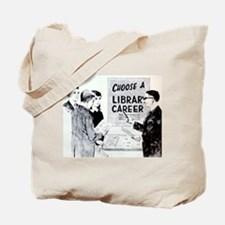 Retro Librarian Tote Bag
