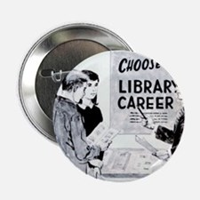 "Retro Librarian 2.25"" Button"