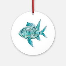 Robot Fish Ornament (Round)