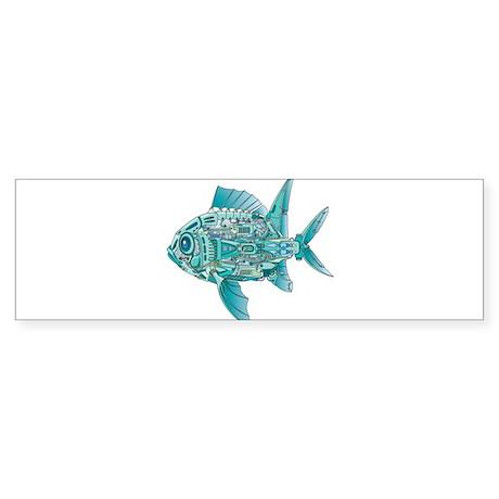 Robot Fish Sticker (Bumper)