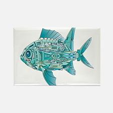 Robot Fish Rectangle Magnet (100 pack)