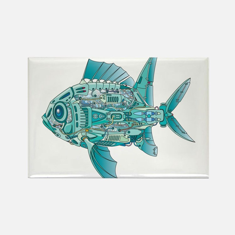 Robot Fish Rectangle Magnet (10 pack)