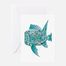 Robot Fish Greeting Card