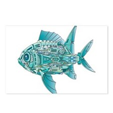 Robot Fish Postcards (Package of 8)