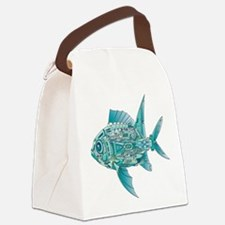 Robot Fish Canvas Lunch Bag