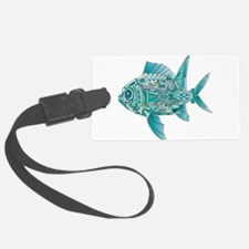 Robot Fish Luggage Tag