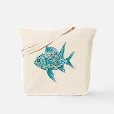 Robot Fish Tote Bag